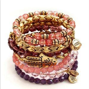 Tangier Alex and Ani set of seven bracelets